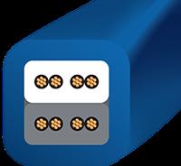 Wireworld Mini-Stratus with Figure 8 Plug Cross section