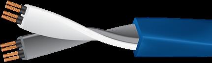 Wireworld Mini-Stratus with Figure 8 Plug Cutaway